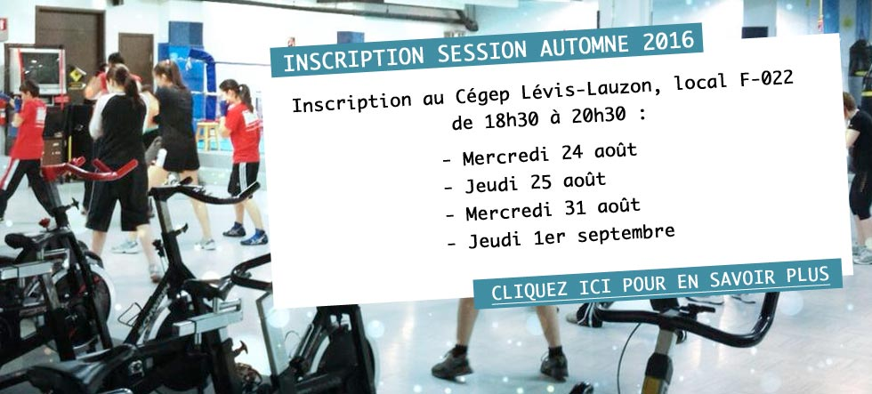 Boxe Levis - inscription automne 2016